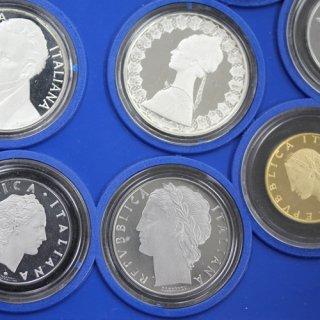 イタリア プルーフコイン 11枚セット(銀貨2枚入り) 1987年