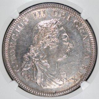 イギリス Great Britain ジョージ3世 イングランド銀行 バンクトークンダラー銀貨 1804年 NGC AU DETAILS