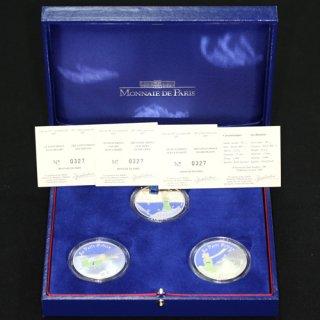 フランス France 星の王子さま フランス版発刊60周年 プルーフセット カラー銀貨3種 2007年
