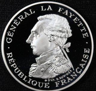 フランス France ラファイエット侯爵 ピエフォー100フラン銀貨 2種セット 1987年