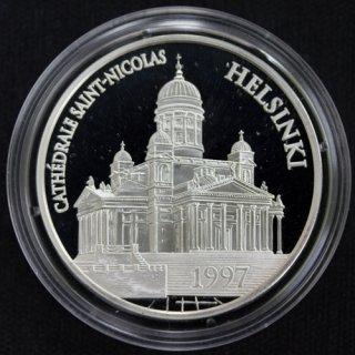フランス France 聖ニコラス教会 ヘルシンキ大聖堂 15ユーロ 100フラン銀貨 プルーフ 1997年
