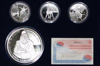 スペイン Spain ドン・キホーテ Don Quijote プルーフセット ユーロ銀貨 4種 2005年