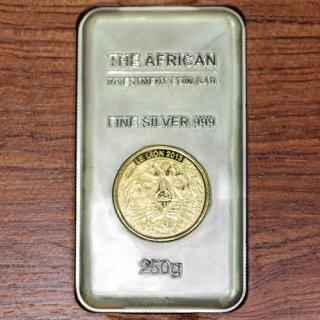 コンゴ Congo アフリカライオン 純銀 インゴット 8オンス 2013年