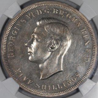 イギリス Great Britain ジョージ6世  英国祭 クラウン白銅貨 1951年 NGC PL63