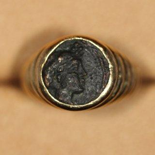 ブルガリ BVLGARI モネーテ 紀元前4世紀 古代イオニア アンティークコイン リング