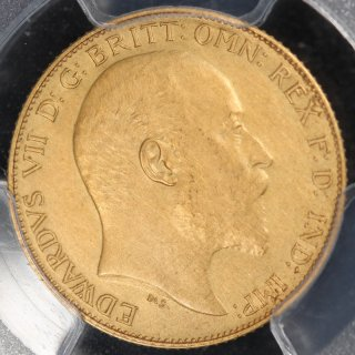 イギリス Great Britain エドワード7世 ハーフソブリン金貨 1902年 PCGS PR61 Matte