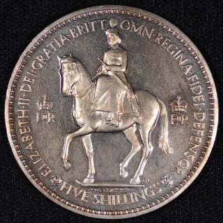 イギリス Great Britain エリザベス2世戴冠記念 ロイヤルミント プルーフコインセット 1953年 10種