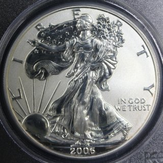 アメリカ United States of America イーグル20周年 1ドル銀貨 リバースプルーフ 2006年P PCGS PR70
