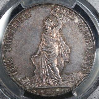 スイス Switzerland 射撃祭 チューリッヒ 5フラン銀貨 1872年 PCGS MS62