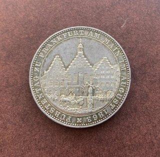 ドイツ Germany フランクフルト アム マイン 旧市庁舎レーマー ターラー銀貨 1863年