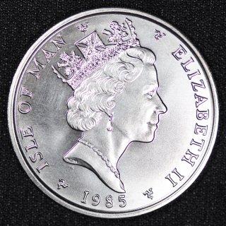 マン島 Isle of Man エリザベス2世 1ノーブル プラチナ貨 1オンス 1985年
