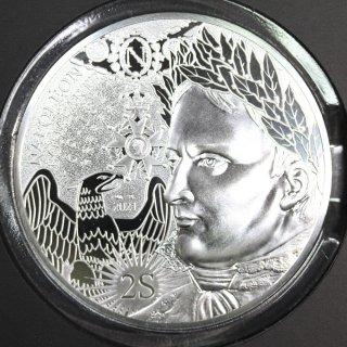 フランス France ナポレオン ボナパルト没後200年 100ユーロ銀貨 2021年