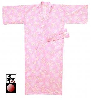 「浴衣ホームウェア」和ざらしガーゼ/日本のお寝巻き(桜)