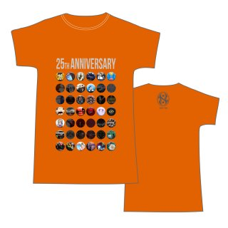 25th Anniversary T-Shirts ORANGE VER.<img class='new_mark_img2' src='https://img.shop-pro.jp/img/new/icons50.gif' style='border:none;display:inline;margin:0px;padding:0px;width:auto;' />