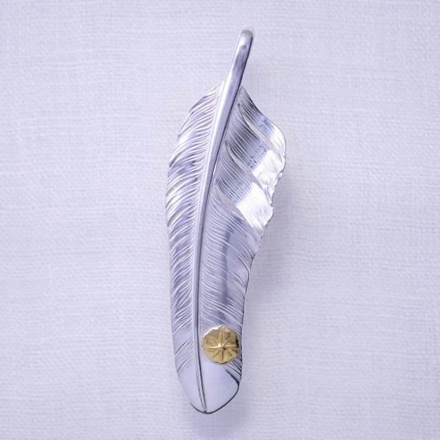 Flight Feather with Gold Point M