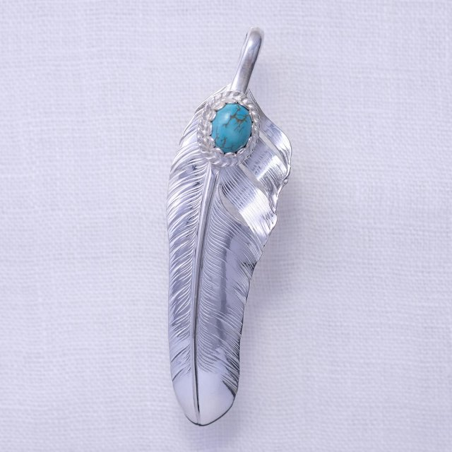 Flight Feather with Turquoise 8*10