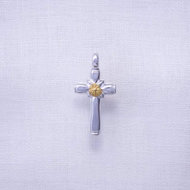 Thick Cross with Gold Point S