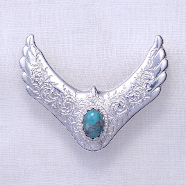 KARAKUSA Eagle Top L with Turquoise 10*14