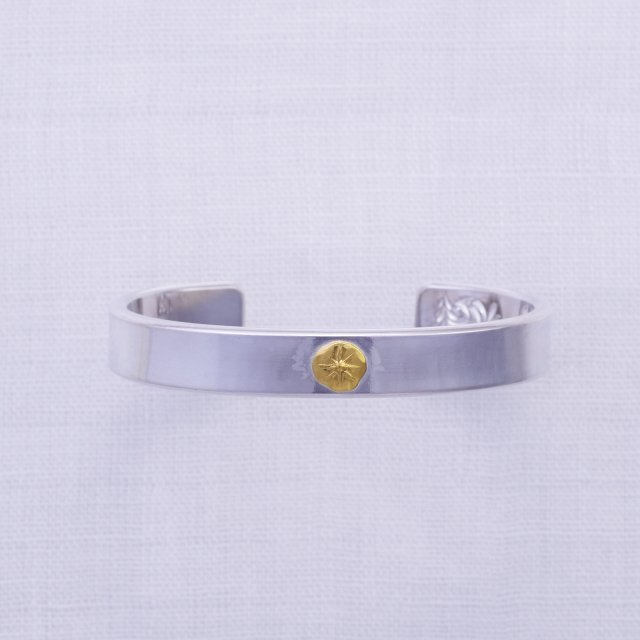 Plain Bangle 12mm width with Gold Point L