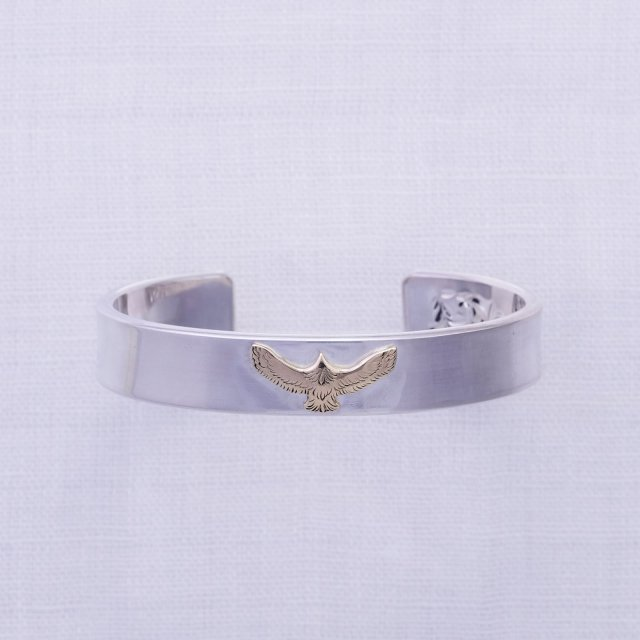 Plain Bangle 12mm width with K10 Mini Eagle