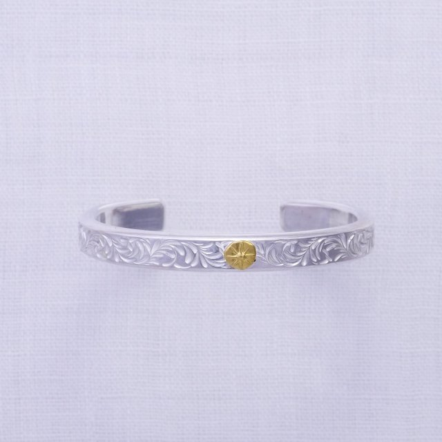 KARAKUSA Bangle 8mm width with Gold Point L