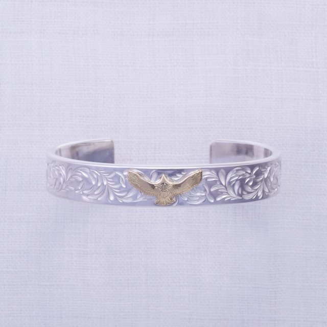 KARAKUSA Bangle 12mm width with K10 Mini Eagle
