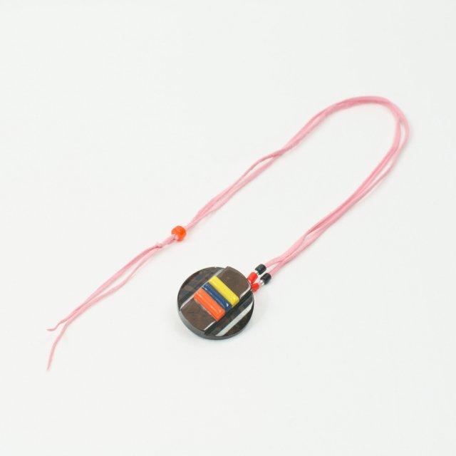 革紐ネックレス(ピンク)SUYS057