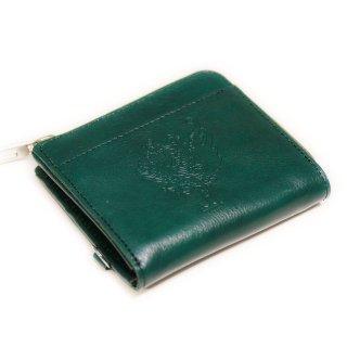 〈3日以内発送〉正倉院文様革財布 ミニマル(グリーン)