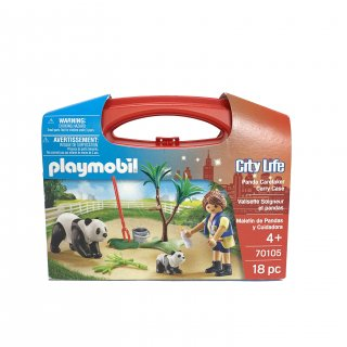 【playmobil】Panda Caretaker Carry Case