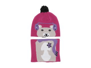 【Columbia】Snow More Beanie and Gaiter Set/Pink Ice Bear