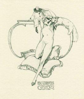 フランツ・フォン・バイロス蔵書票 Ex Libris G.E.R.
