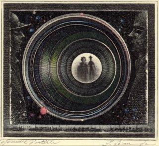 坂東壯一 手彩色銅版画 『押繪と旅する男』サイン入り