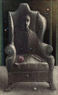 坂東壯一 手彩色銅版画 『人間椅子』サイン入り