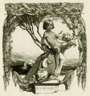 フランツ・フォン・バイロス蔵書票 Ex-Libris H.R. Rosen