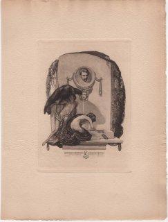 フランツ・フォン・バイロス蔵書票 E.L.(Erny Ludwig, Vienna) Plate 5