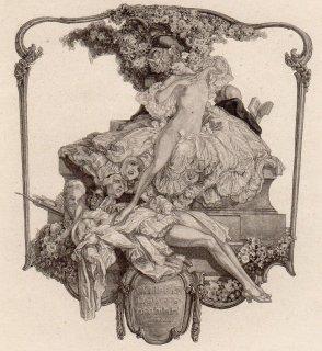 フランツ・フォン・バイロス蔵書票 Ex Libris Hanns D.Herman MCMXX (Aachen)