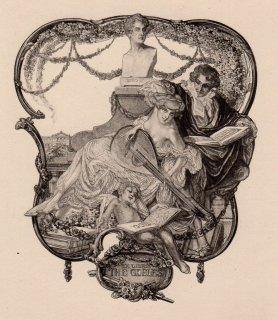 フランツ・フォン・バイロス蔵書票 Ex Libris The Gobles