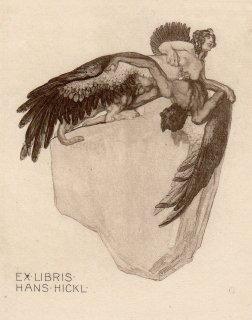 フランツ・フォン・バイロス蔵書票 Ex Libris Hans Hickl  Plate 7