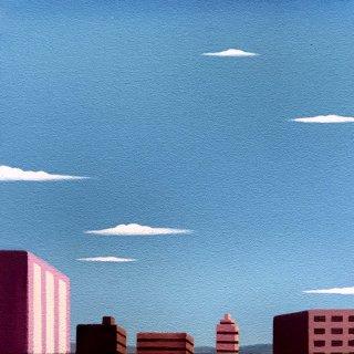 豊田 泰弘  油彩画  『街』
