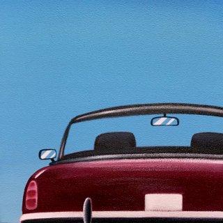 豊田 泰弘  油彩画  『オープンカー』