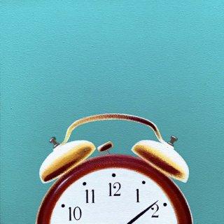 豊田 泰弘  油彩画  『目覚まし時計』