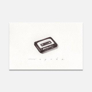 豊田泰弘 ドローイング  『カセットテープ』