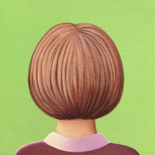 豊田 泰弘 油彩画『ボブ』