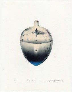 若月 公平 銅版画作品「風の回廊」