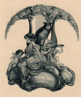 フランツ・フォン・バイロス蔵書票   Franz von Bayros Ex Libris Karl Theodor Senger