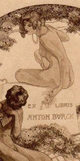 フランツ・フォン・バイロス蔵書票 Ex Libris Anton Burck