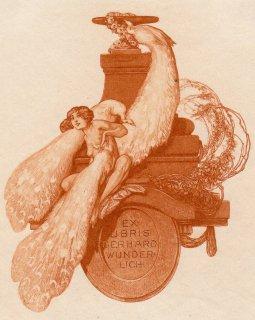 フランツ・フォン・バイロス蔵書票   Ex-Libris Gerhard Wunderlich (Dresden)Plate23