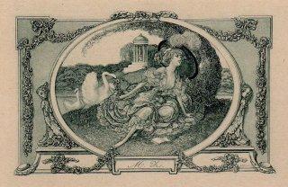 フランツ・フォン・バイロス蔵書票   Franz von Bayros Ex Libris M.Z. Plate 14