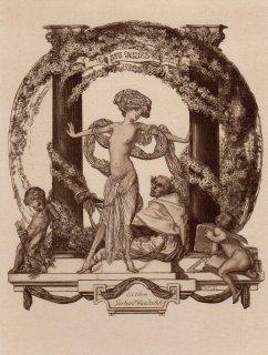 フランツ・フォン・バイロス蔵書票   Ex-Libris Gerhard Wunderlich (architect, Dresden)Plate22