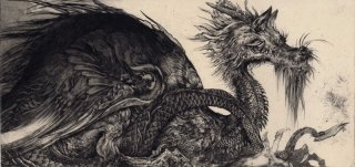 西村 沙由里 銅版画「うわばみのガルグイユ」*シート